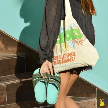 On my way to shine ✨💫 . . . . #mycacatoes #frombrazilwithlove #picoftheday #summer #beachlife #sandals #instagood #fun #fashion #style #beachwear #summeroutfit #flipflops #holidays #instamood #happyfeet #summervibes #footprints #candyscented #trancoso #mint #totebag #shine